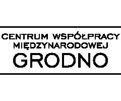 Logo centrum współpracy międzynarodowej grodno
