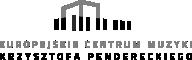 Logo Europejskie Centrum Muzyki Krzysztofa Pendereckiego